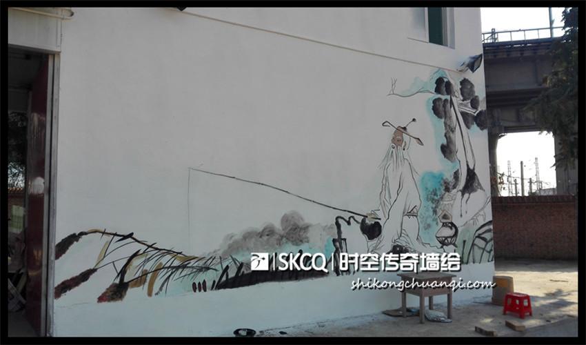 太榆路钓鱼农家乐 - 时空传奇墙绘壁画-山西专业墙体